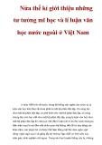 Nửa thế kỉ giới thiệu những tư tưởng mĩ học và lí luận văn học nước ngoài ở Việt Nam