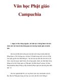 Văn học Phật giáo Campuchia