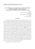 """Báo cáo nghiên cứu khoa học: """"Tình trạng suy dinh dưỡng và các yếu tố liên quan trong trẻ em dân tộc thiểu số dưới 5 tuổi Trong bắc Trà My, tỉnh Quảng Nam trong năm 2010."""""""