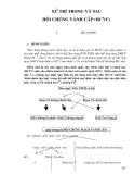 Điều trị nội khoa - XỬ TRÍ TRONG VÀ SAU HỘI CHỨNG VÀNH CẤP part 1