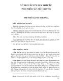 Điều trị nội khoa - XỬ TRÍ CẤP CỨU SUY TIM CẤP (PHÙ PHỔI CẤP, SỐC DO TIM)