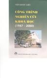 Công trình nghiên cứu khoa học (1987 - 2000) part 1