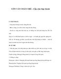 UỐN VÁN TOÀN THỂ - Cấp cứu thực hành