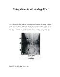 Những điều cần biết về chụp UIV
