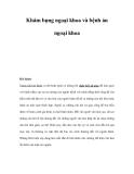 Tài liệu Khám bụng ngoại khoa và bệnh án ngoại khoa