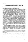 Công nghệ chuyển gene trong nông nghiệp - Chương 3