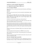 Giáo trình quản lý mạng - Phần 4 Quản trị mạng Windowns 2000 - Chương 2