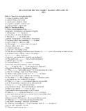 ĐỀ LUYỆN THI THỬ TỐT NGHIỆP - ĐẠI HỌC MÔN ANH VĂN  SỐ 1