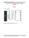 LÀM QUEN VỚI CHIP VI ĐIỀU KHIỂN AT89C51