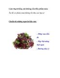 Làm thạch hồng mà không cần đến phẩm màu