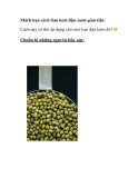 Cách làm kem đậu xanh giản tiện