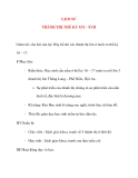 Giáo án lớp 4 môn LỊCH SỬ THÀNH THỊ THẾ KỶ XVI - XVII