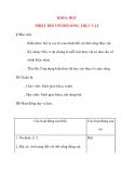 Giáo án lớp 4 môn KHOA HỌC NHIỆT ĐỐI VỚI ĐỜI SỐNG THỰC VẬT