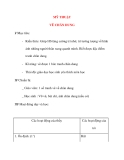 Giáo án lớp 4 môn MỸ THUẬT VẼ CHÂN DUNG