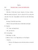 Giáo án lớp 4 môn Tập đọc NHÀ BÁC HỌC VÀ BÀ CON NÔNG DÂN