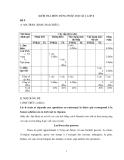 KIỂM TRA MÔN TIẾNG PHÁP, HỌC KÌ I, LỚP 8 Đề 9