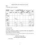 KIỂM TRA MÔN TIẾNG PHÁP, HỌC KÌ I, LỚP 9 Đề 13