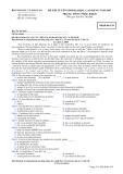 ĐỀ THI TUYỂN SINH ĐẠI HỌC, CAO ĐẲNG NĂM 2007 MÔN THI TIẾNG PHÁP KHỐI D - MÃ ĐỀ 139