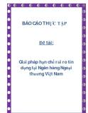 Đề tài: Giải pháp hạn chế rủi ro tín dụng tại Ngân hàng Ngoại thương Việt Nam