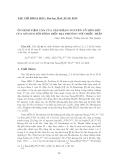 """Báo cáo nghiên cứu khoa học: """"Ổn định tiệm cận của tập Iđêan nguyên tố liên kết của mô đun đối đồng điều địa phương với chiều thấp"""""""