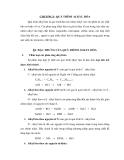 Bài giảng chế biến khí : QUÁ TRÌNH ALKYL HÓA part 1