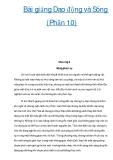 Bài giảng Dao động và Sóng (Phần 10)