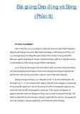 Bài giảng Dao động và Sóng (Phần 9)