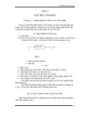 Giáo trình Phần tử tự động - Phần 1 Các bộ cảm biến - Chương 1