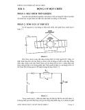 Thí nghiệm lỹ thuật điện - Bài 2