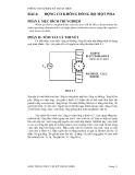 Thí nghiệm lỹ thuật điện - Bài 4