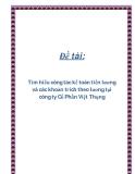 Đề tài: Tìm hiểu công tác kế toán tiền lương và các khoản trích theo lương tại công ty Cổ Phần Việt Thụng