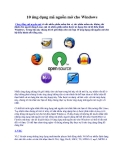 10 ứng dụng mã nguồn mở cho Windows