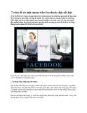 7 cách để có một status trên Facebook thật nổi bật