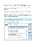 Internet Explorer 9.0.2 vá lỗi bảo mật nghiêm trọng