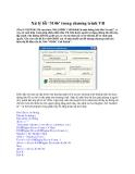 """Xử lý lỗi """"3146"""" trong chương trình VB"""