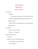 Giáo án lớp 4: Chính tả (So sánh) Phân biệt ch / tr