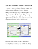 Nghệ thuật cá nhân hóa Windows 7 đẹp long lanh