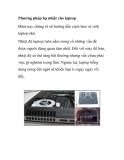 Phương pháp hạ nhiệt cho laptop