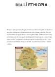 ĐỊA LÍ ETHIOPIA