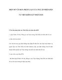 MỘT SỐ VĂN BẢN PHÁP LUẬT CỦA TOÀ ÁN NHÂN DÂN VÀ VIỆN KIỂM SÁT NHÂN DÂN