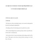 CÁC QUI TẮC XÂY DỰNG VĂN BẢN QUI PHẠM PHÁP LUẬT VÀ VĂN BẢN ÁP DỤNG PHÁP LUẬT