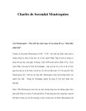 Charles de Secondat Montesquieu
