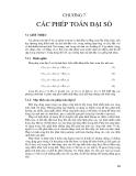 Chương 7 : Các phép toán đại số