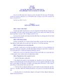 LUẬT CƯ TRÚ CỦA QUỐC HỘI KHÓA XI, KỲ HỌP THỨ 10 SỐ 81/2006/QH11 NGÀY 29 THÁNG 11 năm 2006