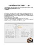 Thiên biến vạn hóa' Mac OS X Lion
