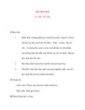 Giáo án lớp 4: KỂ CHUYỆN A – LI – Ô - SA