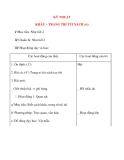 Giáo án lớp 4: KỸ THUẬT KHÂU – TRANG TRÍ TÚI XÁCH