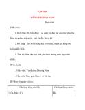 Giáo án lớp 4: TẬP ĐỌC RỪNG PHƯƠNG NAM