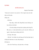 Giáo án lớp 4: TẬP ĐỌC ĐƯỜNG ĐI SA PA