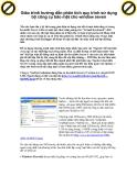 Giáo trình hướng dẫn phân tích quy trình sử dụng bộ công cụ bảo mật cho window seven p1
